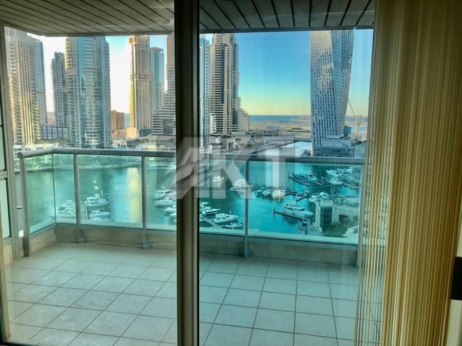 133 K / AL MESK TOWER/ FULL MARINA VIEW/ MID FLOOR/ 2 BEDS PLUS MAID