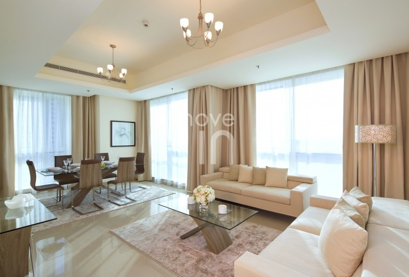 Fully Furnished Serviced Hotel Apartment Bills are Included