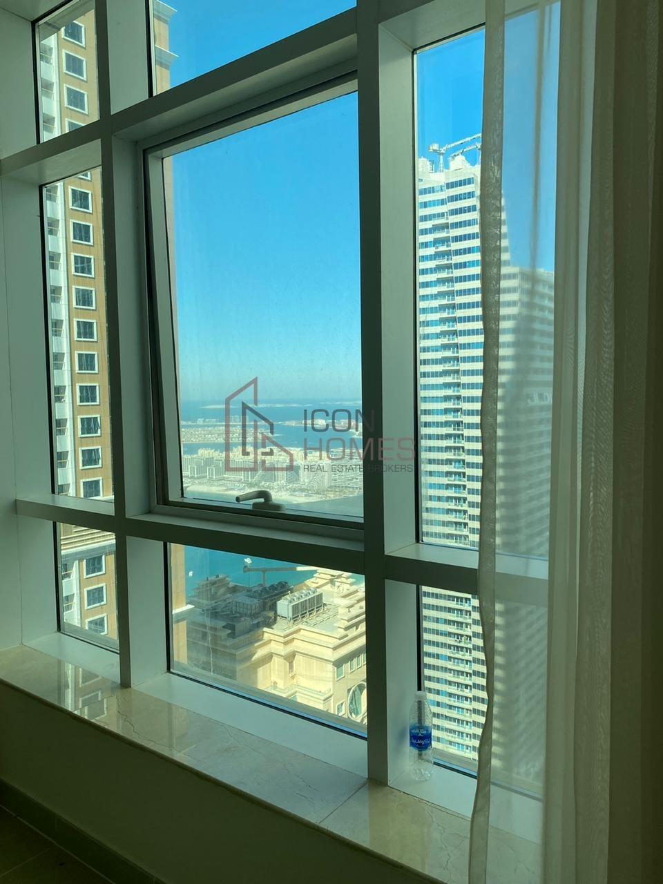 SPACIOUS MARINA VIEWS 3BR, 3 bathrooms, 2 Balconies apartment in MARINA PINNACLE, DUBAI MARINA - 95K!