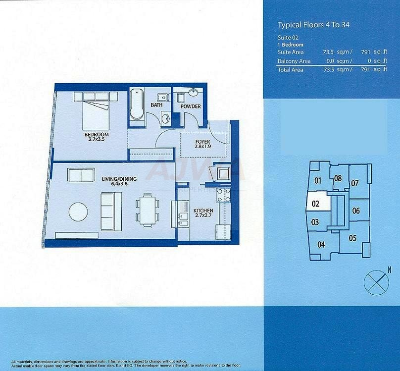 1 Bedroom with yacht View at Marina Quays Dubai Marina