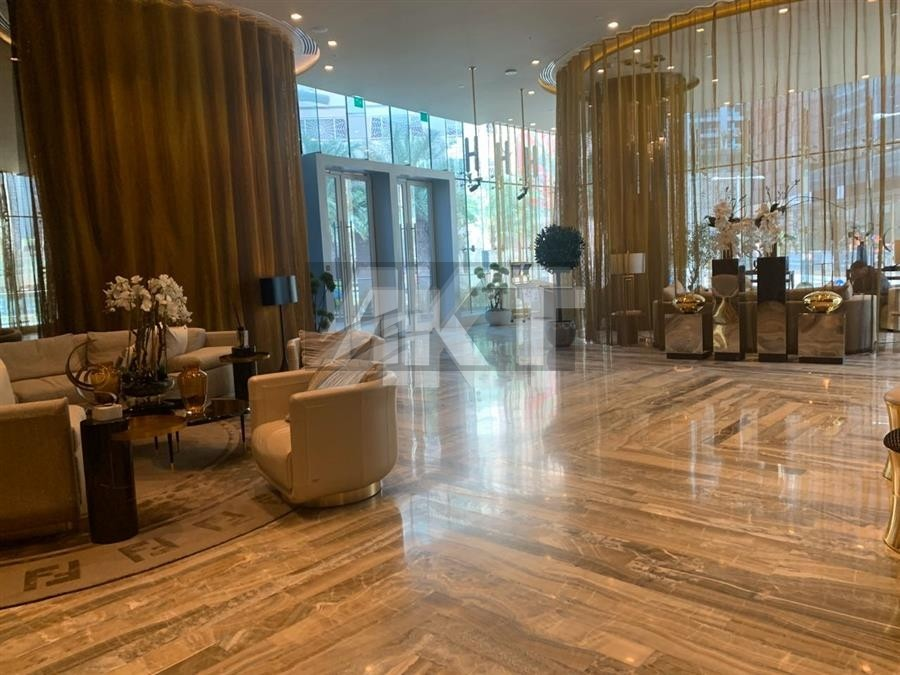 1,790 M / 2 Beds/ FENDI Style / High Floors/ Sea and Palm View / Brand New