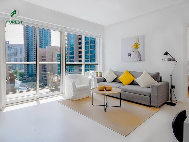 Fully Furnished 1BR | Great condition | Mid Floor