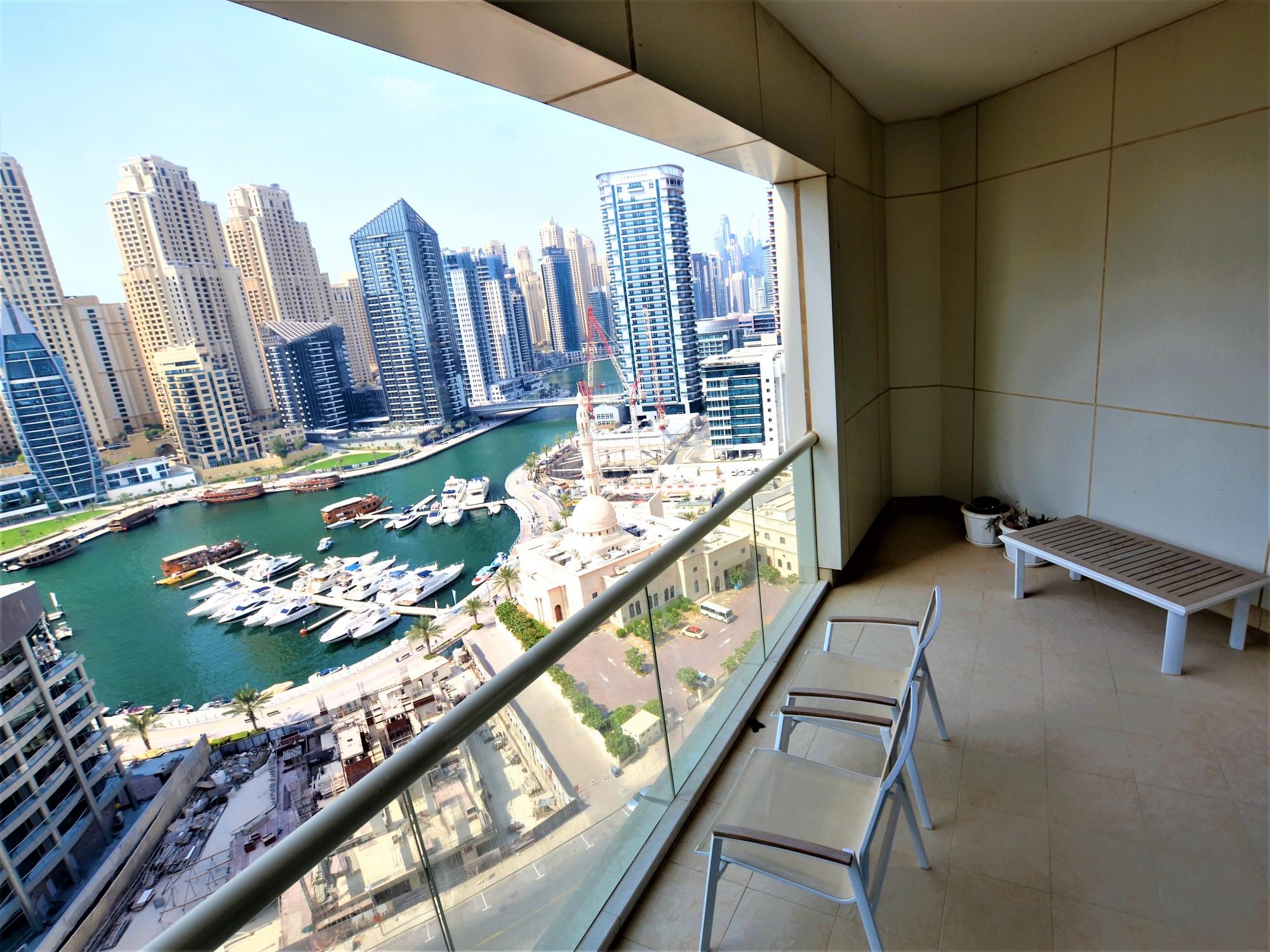 Panoramic Marina View |3BR + M |Chiller Free
