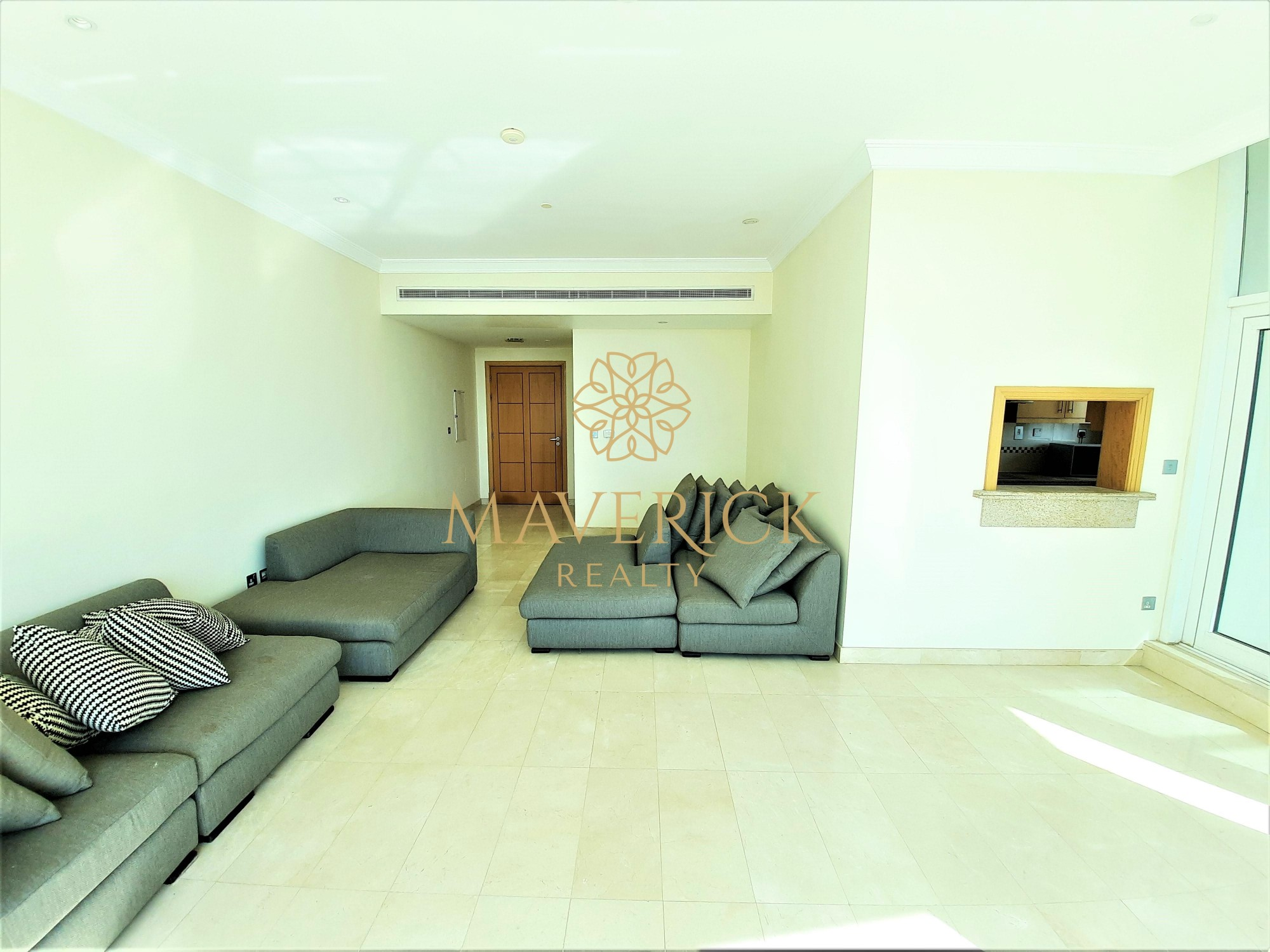 Semi-Furnished 2BR | Chiller Free | Huge Balcony