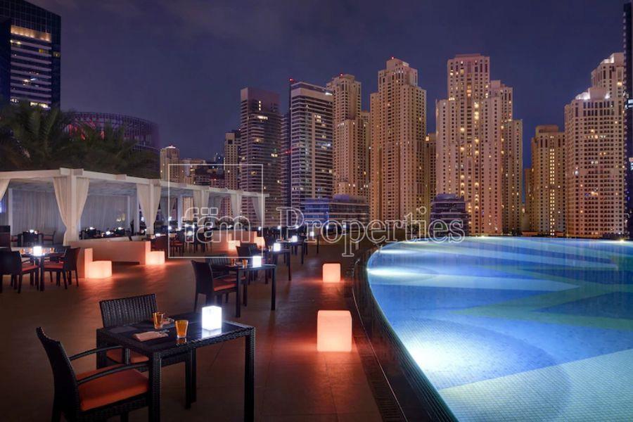 Furnished studio at address  Dubai marina.