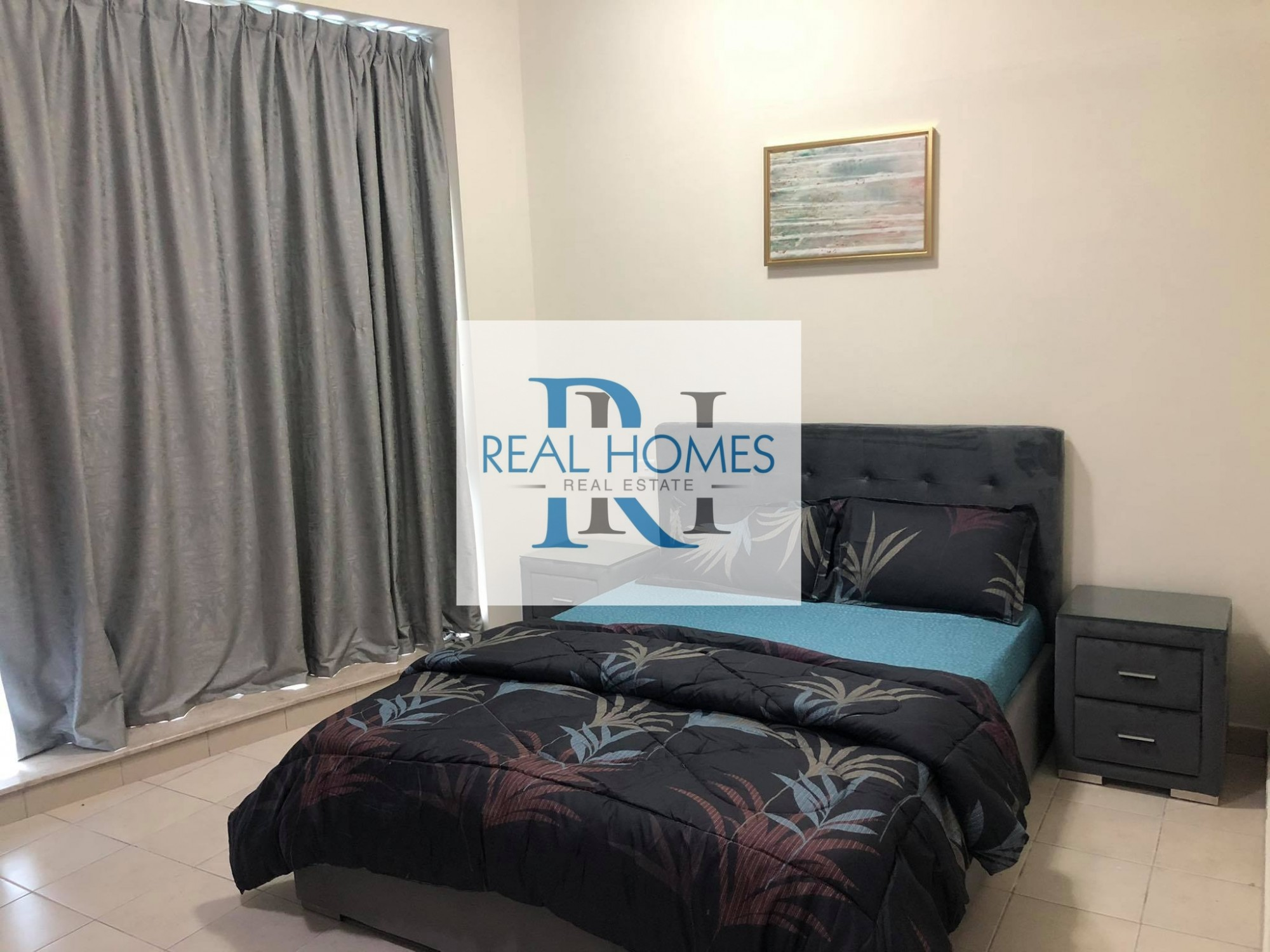 Fully Furnished 2 Bedroom with Laundry! Higher Floor! Partial Sea View! MontHly  9500