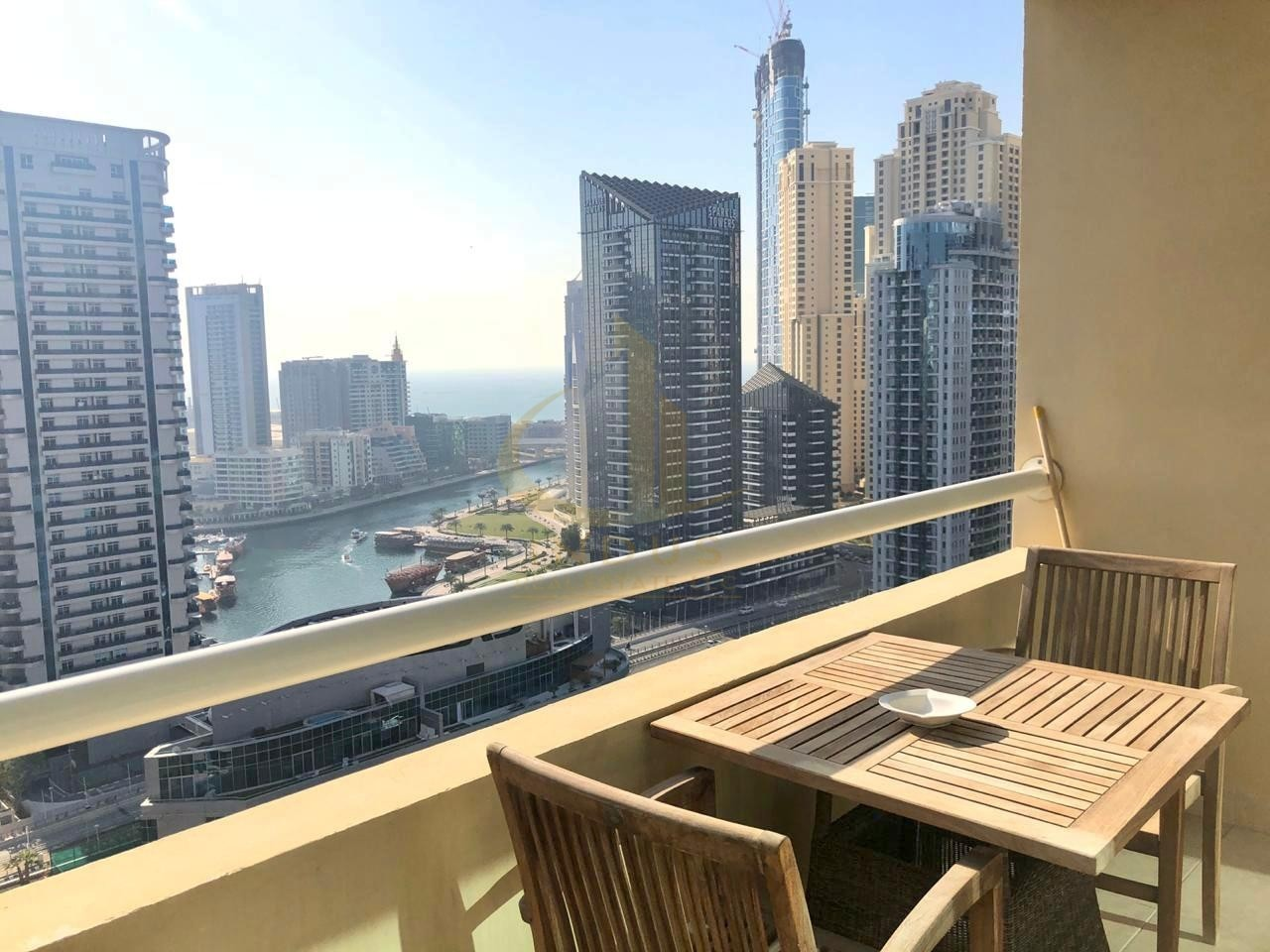 Breathtaking Views of the Marina | Fully Furnished | 1 Bedroom