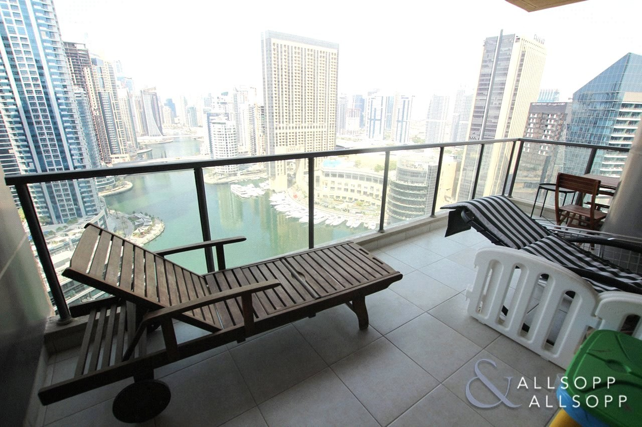 Two Beds | High Floor | Full Marina View