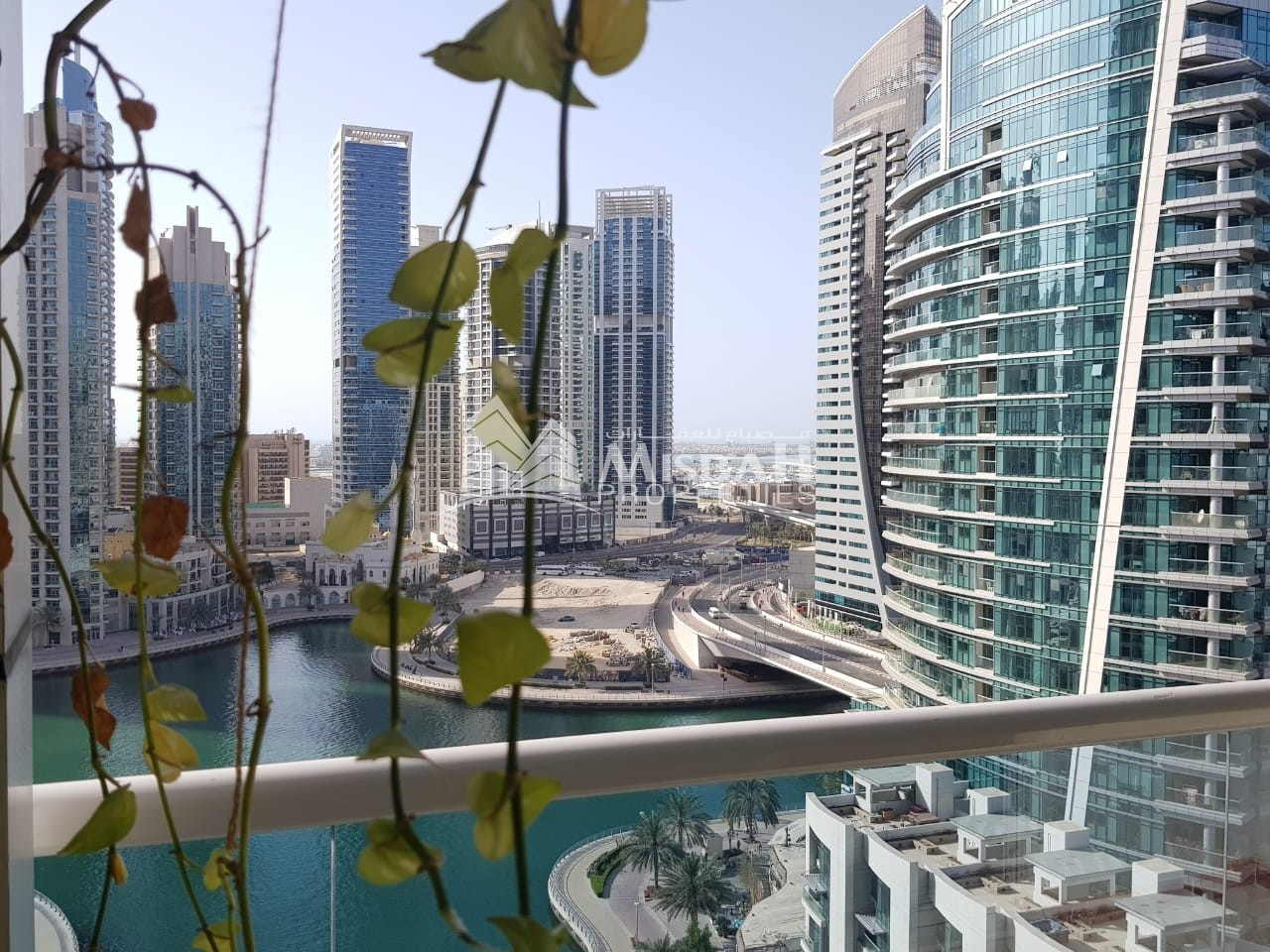 Full marina view 2 bedroom with kitchen appliances in Dubai marina