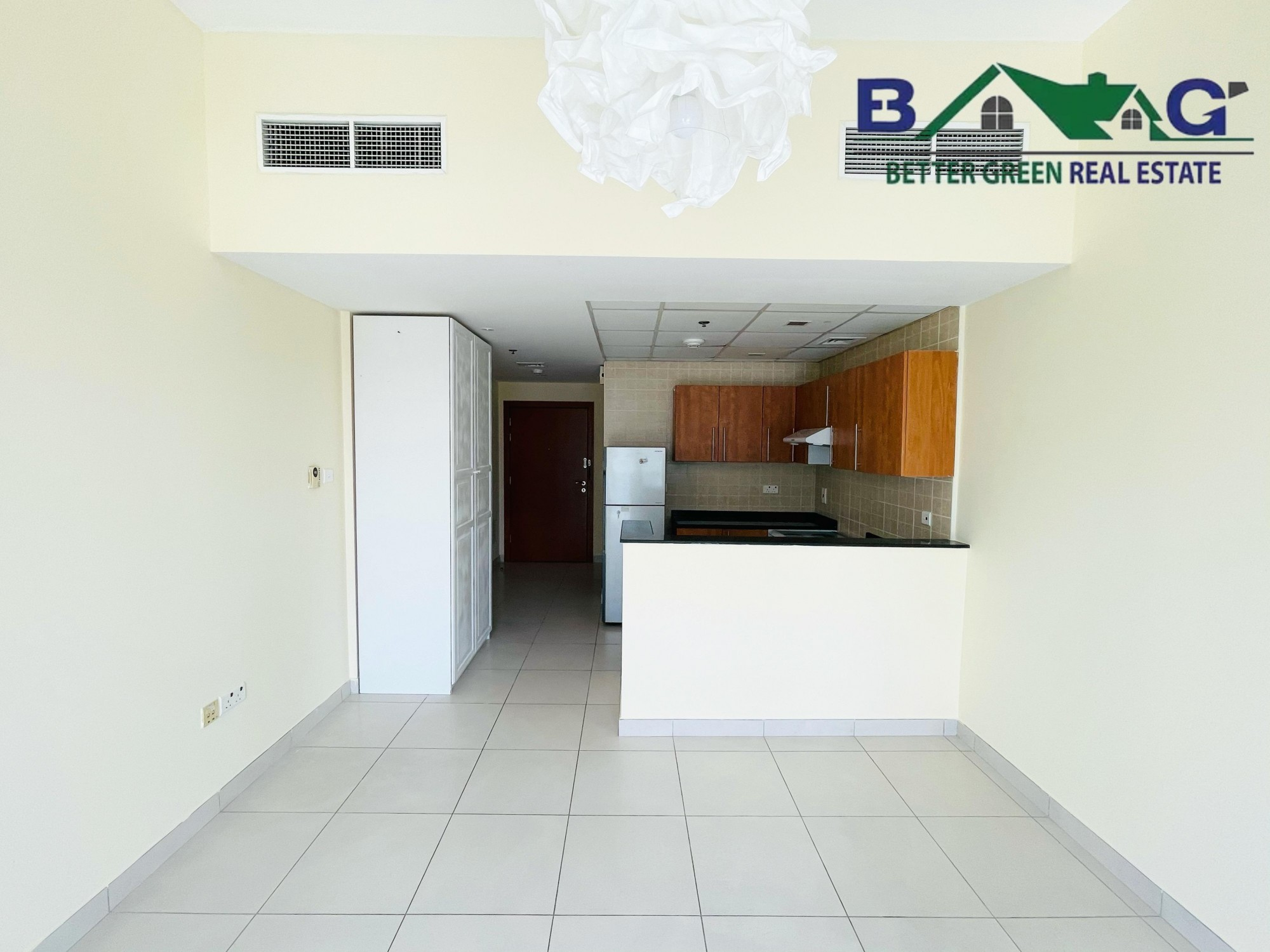 Studio  with Balcony  high floor Marina view  Equipped Kitchen