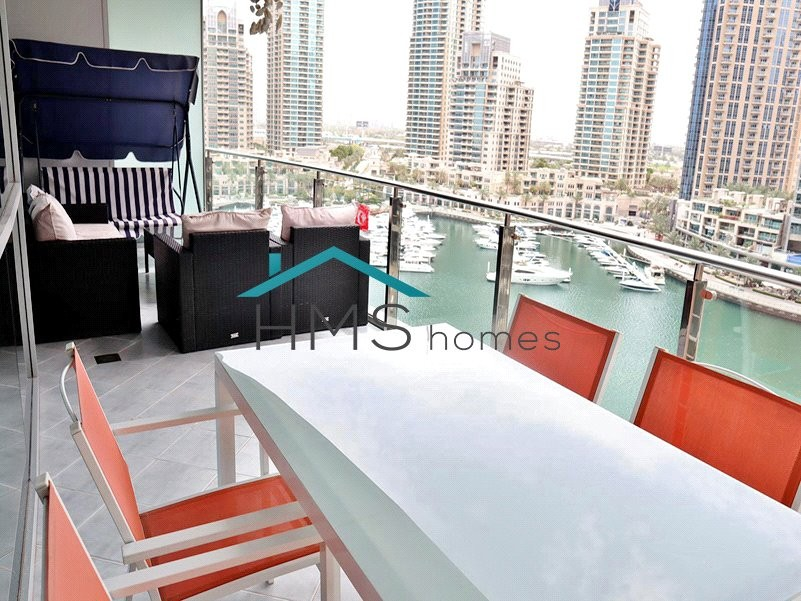 1BR Unfunished Panoramic Marina View