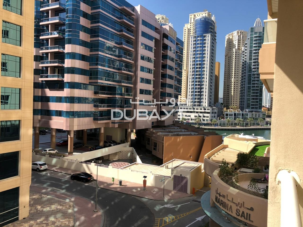 Pay 6 cheq 1BR+balcony, Unfurnished, Marina sail