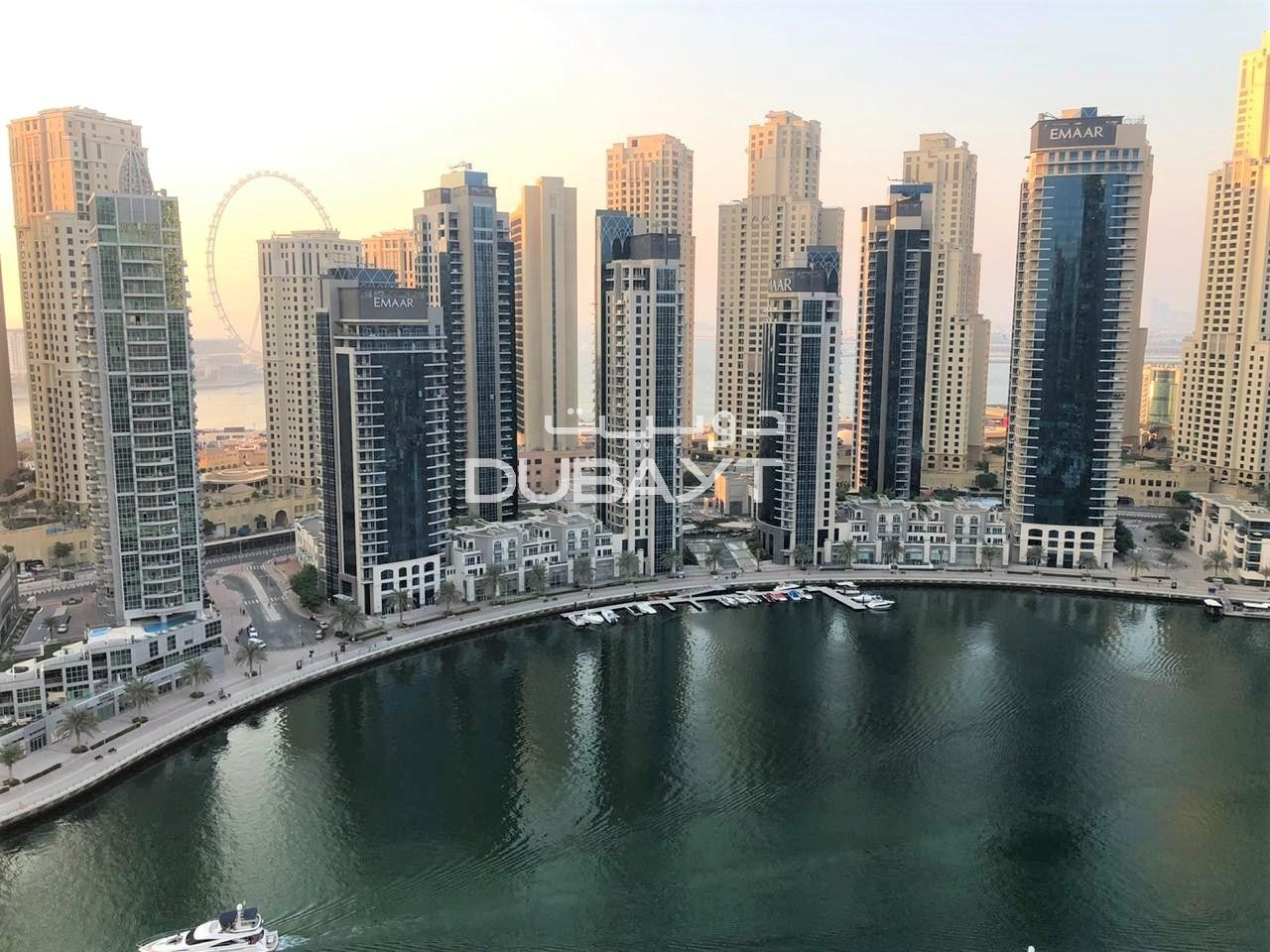 1 Month Free, Pay 4 Cheqs 3 BR + Balcony, Unfurnished, Marina View