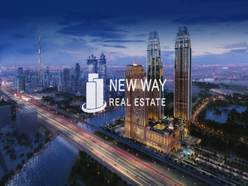 WAKE UP WITH SEA AND WATER CANAL VIEW IN SHEIKH ZAYED ROAD   1 BR