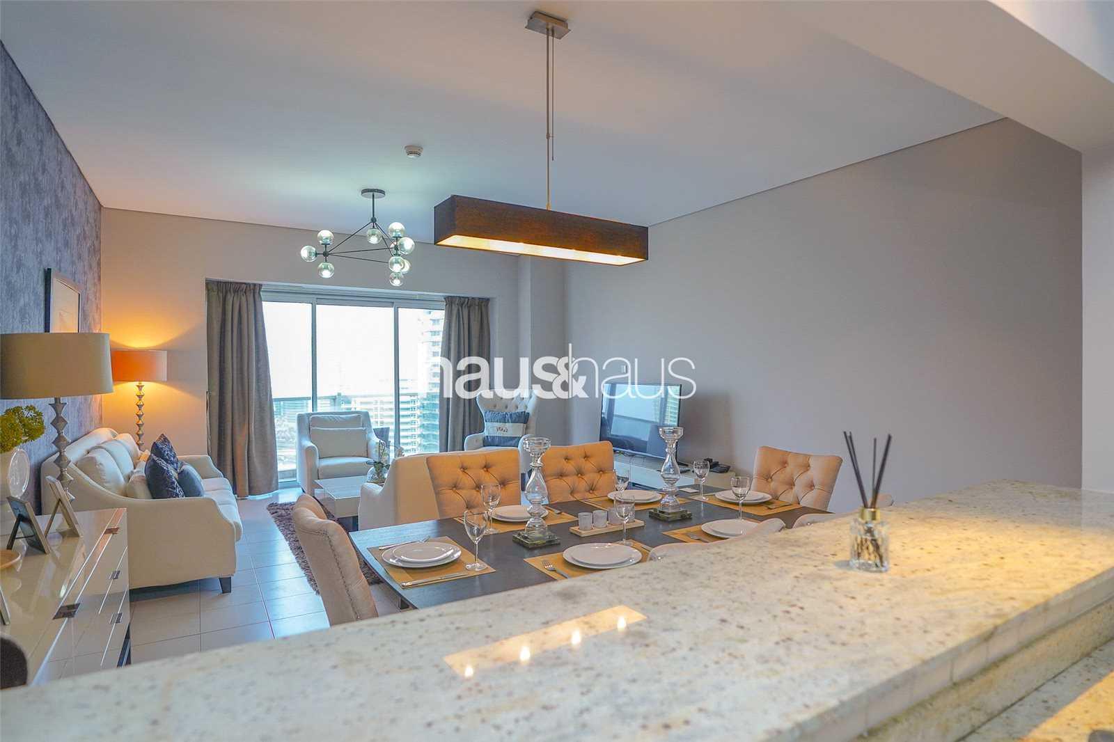 3 bedrooms Furnishing options Full Marina Views