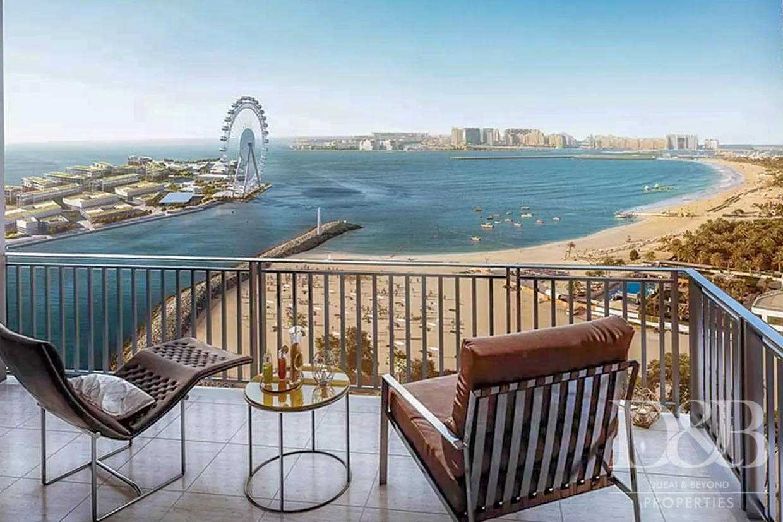 Emaar | Full Sea and Dubai Eye View | Balcony