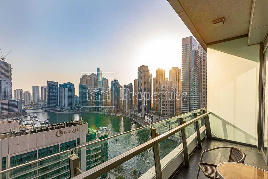 Stylishly Furnished| Full Marina| Vacant| Balcony