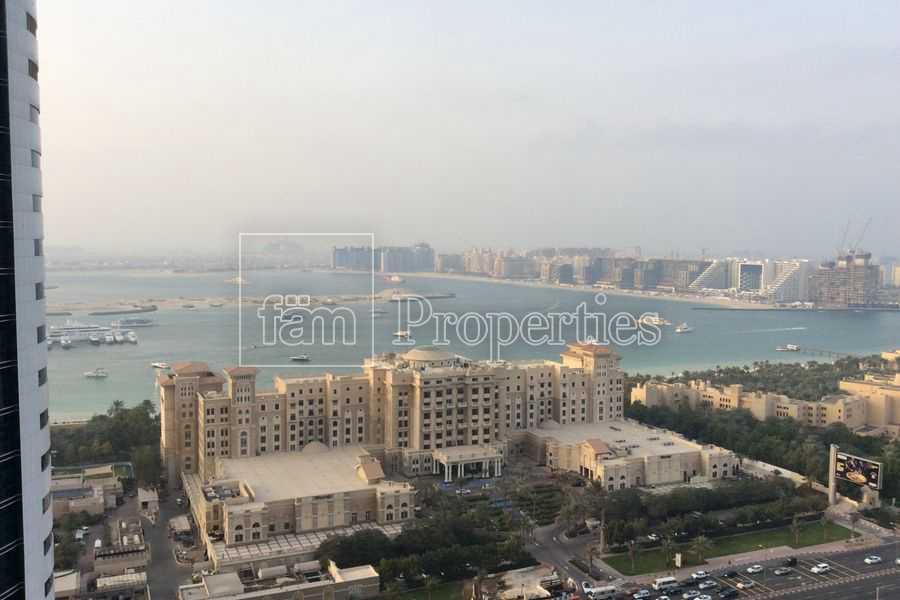 Arabian Sea & Palm Jumeirah View | Furnished