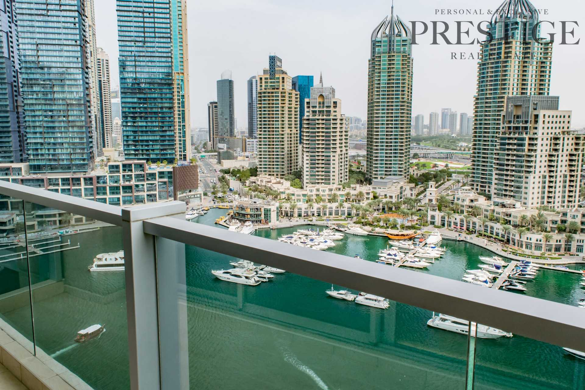 Large 3 Bed plus Maid   Full Marina view