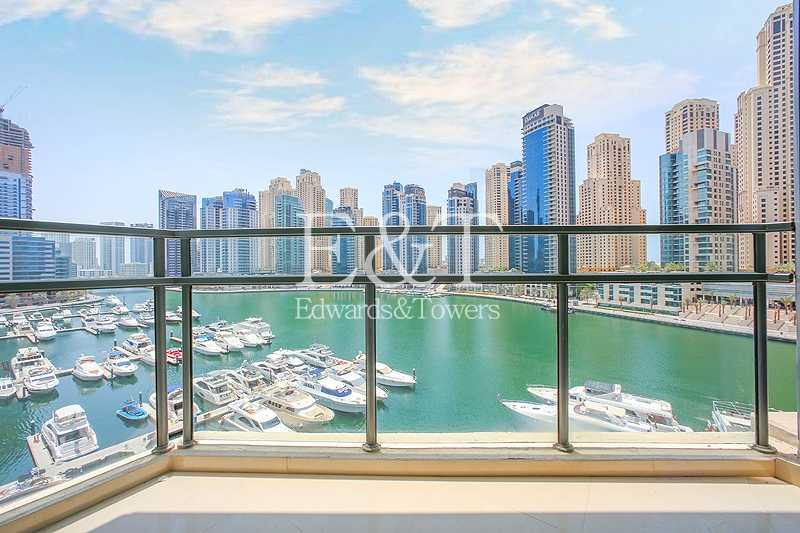 Full Marina View from Low Floor, Ready to Move In