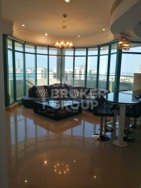 Furnished Apartment full sea view chiller free