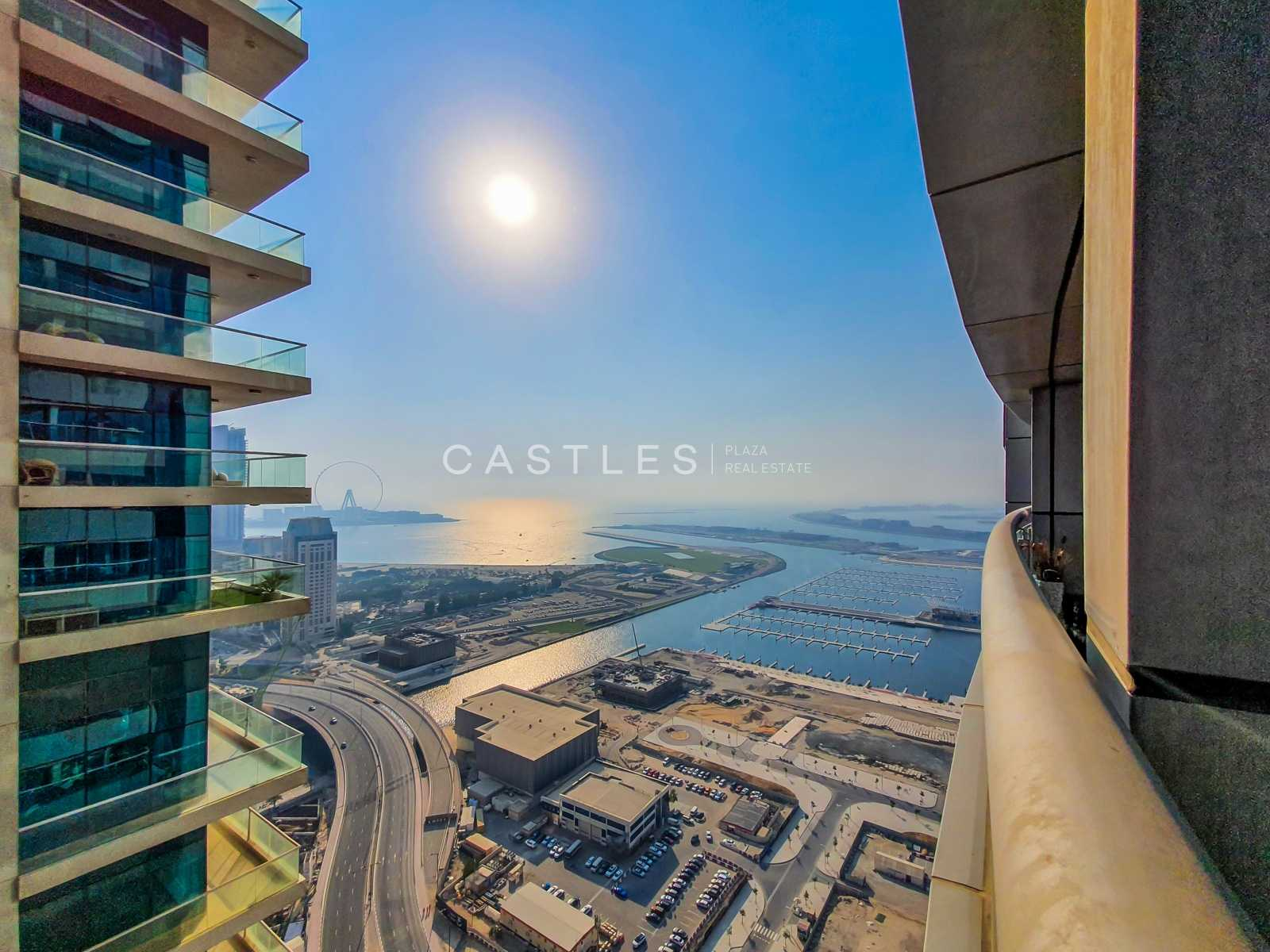 PARTIAL SEA-VIEW HIGH FLOOR   1 BR   Unfurnished