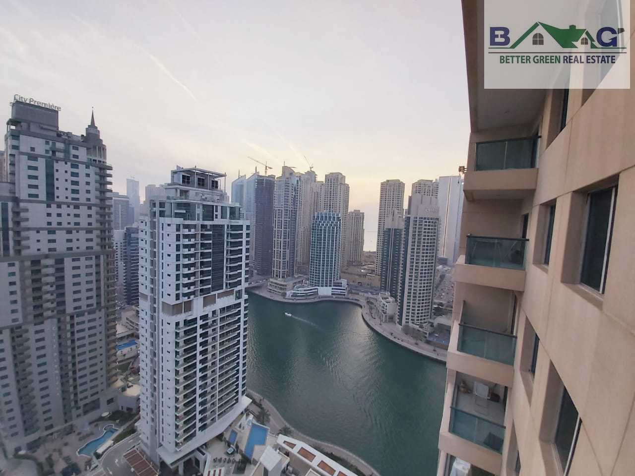 Huge 1 BR Chiller Free High floor Full Marina View with Balcony