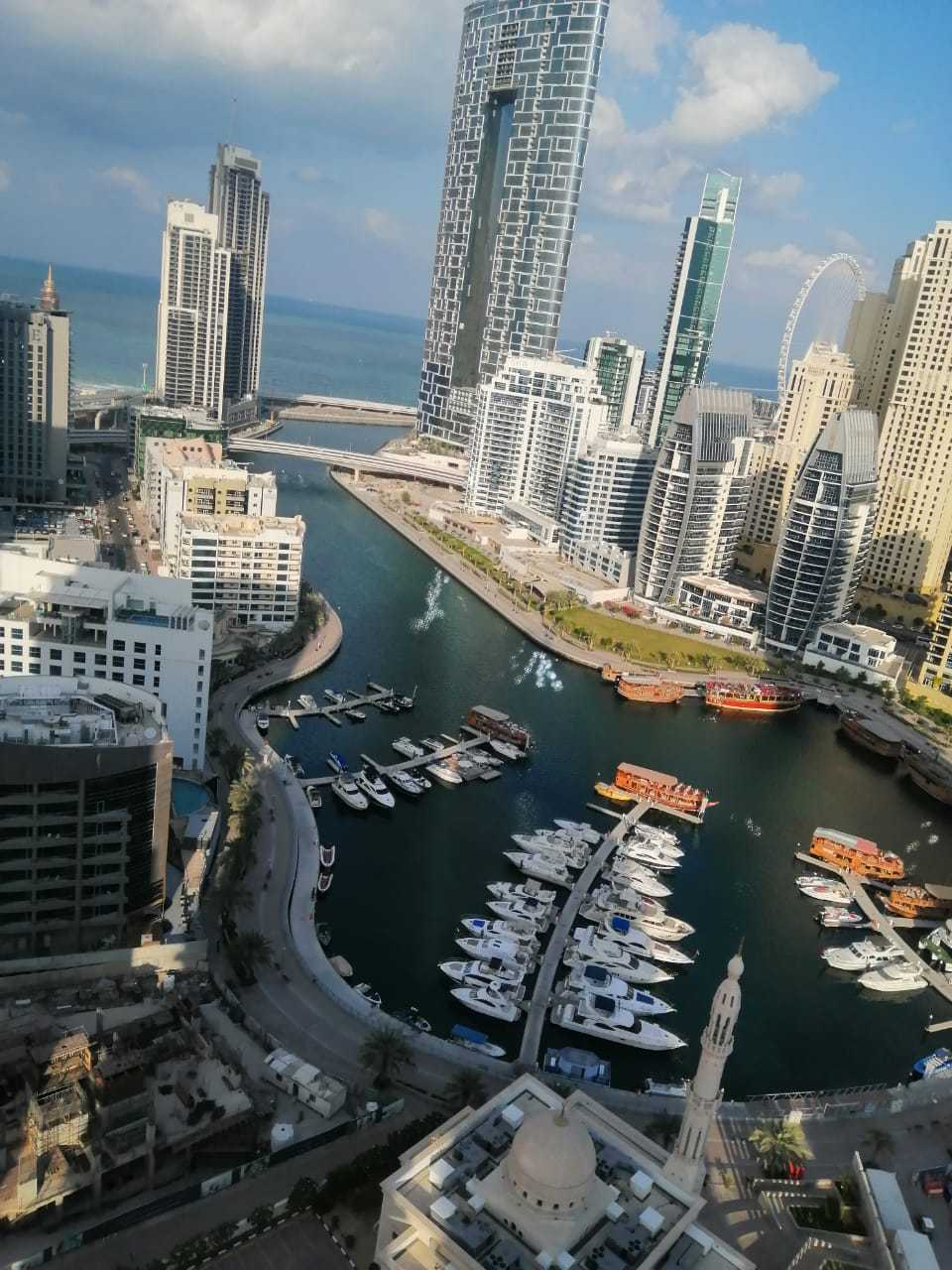 Huge 2 BR+M | Opal Tower Full Marina  view