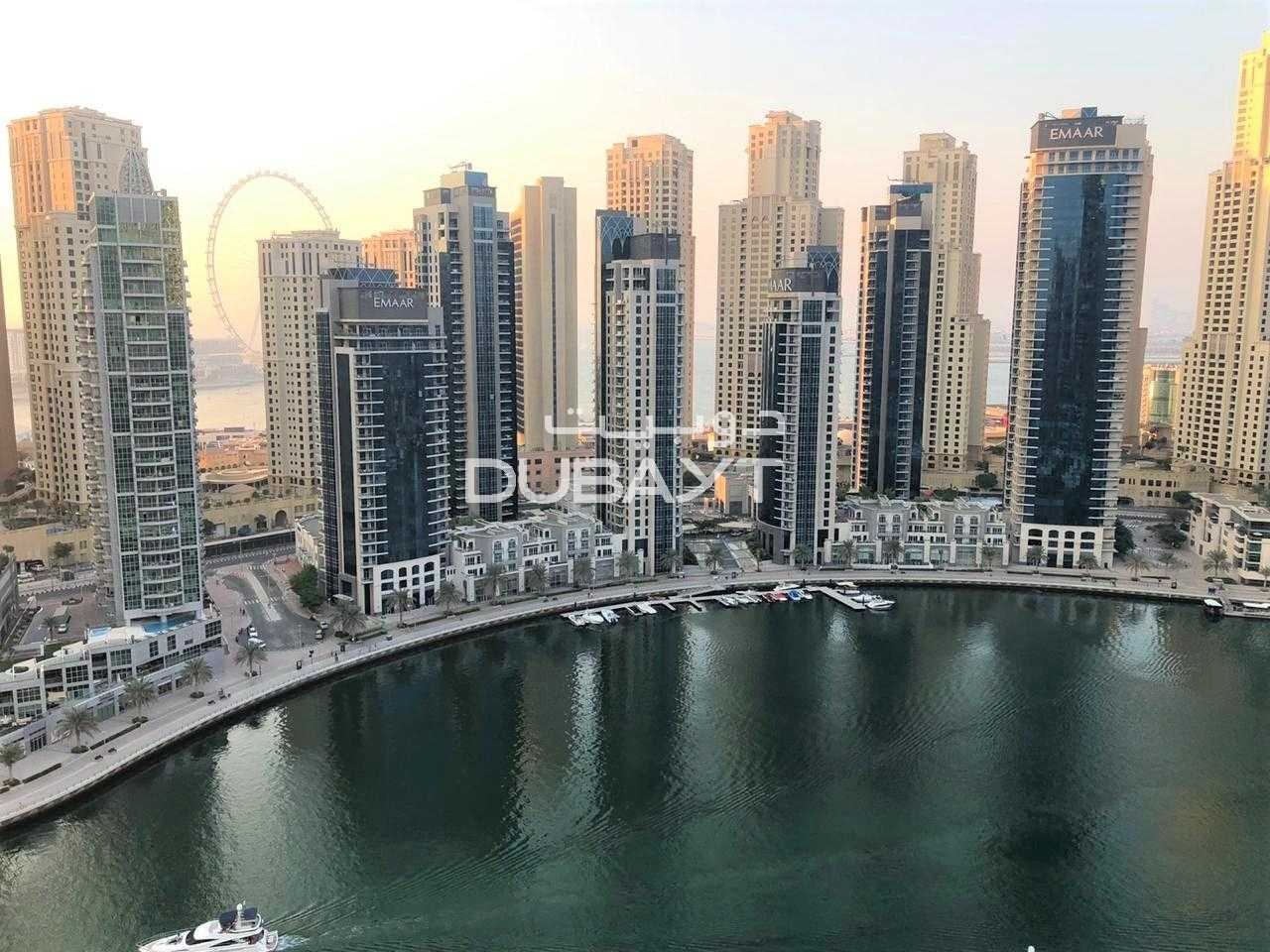 2 Month Free, Pay 4 Cheqs 3 BR + Balcony, Unfurnished, Marina View
