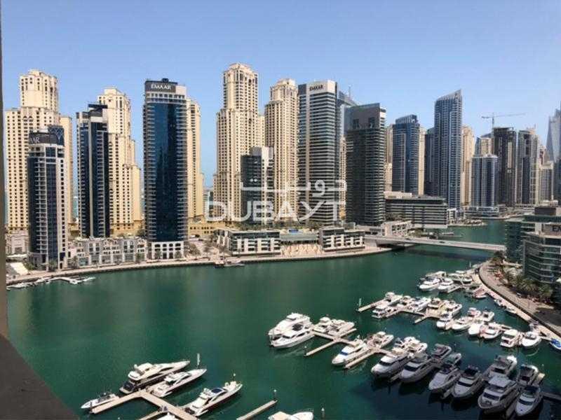 Pay 4 chqs 2B/R+Balcony, Full Marina and Sea View