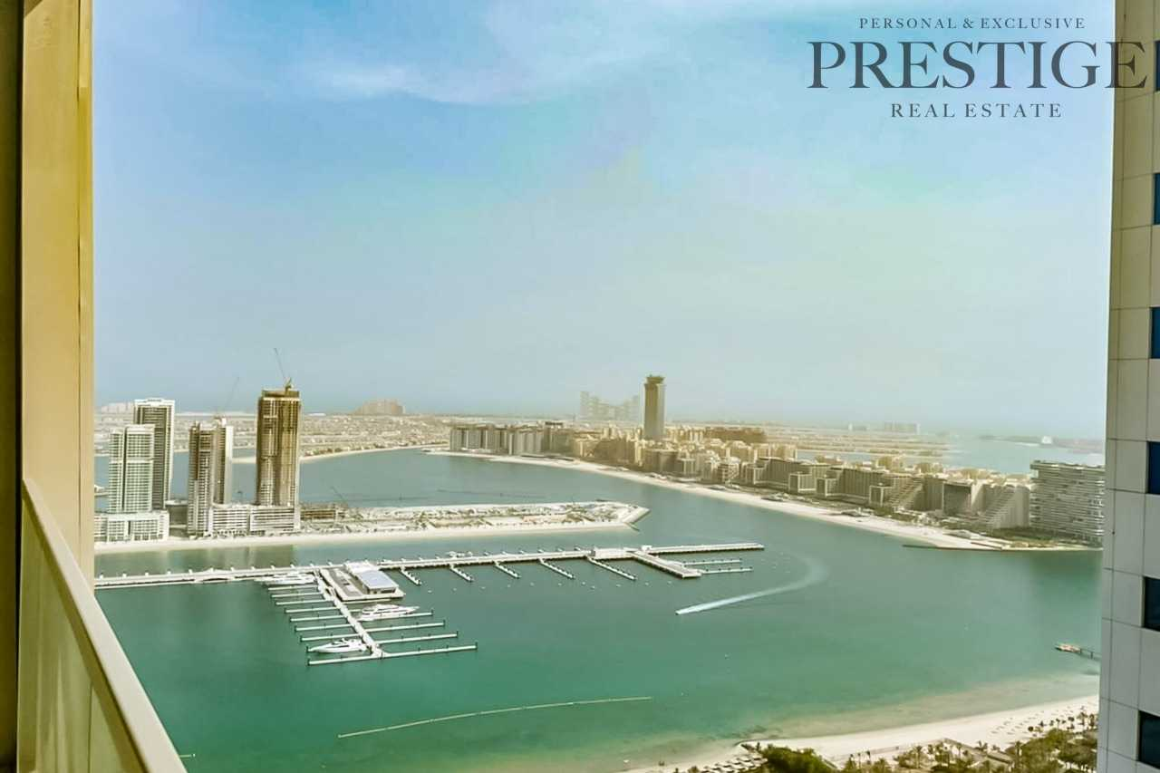 Sea View |  High Floor | 2BR Unfurnished