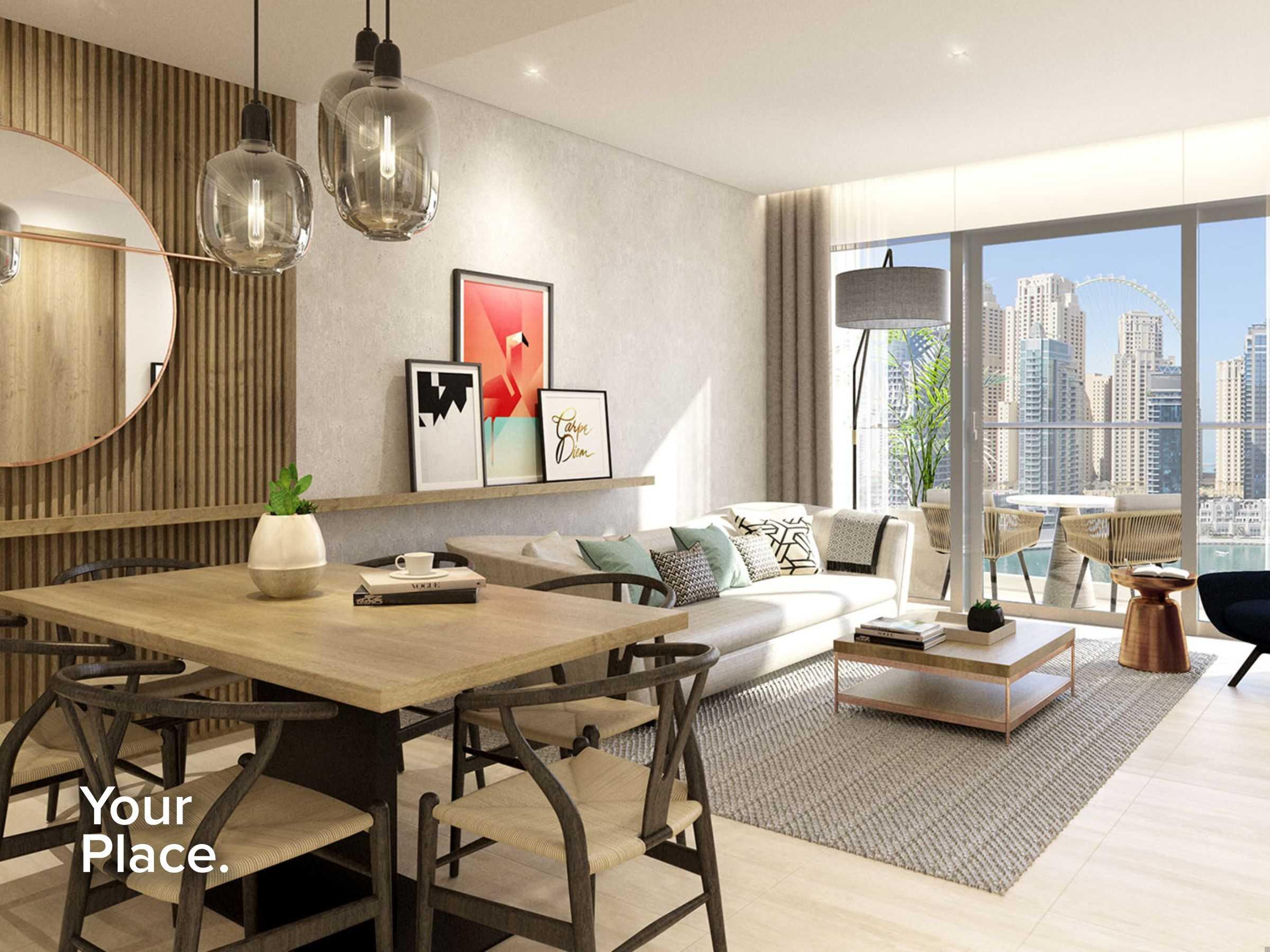 Genuine Re-sale  -  Middle floor -  Marina Views