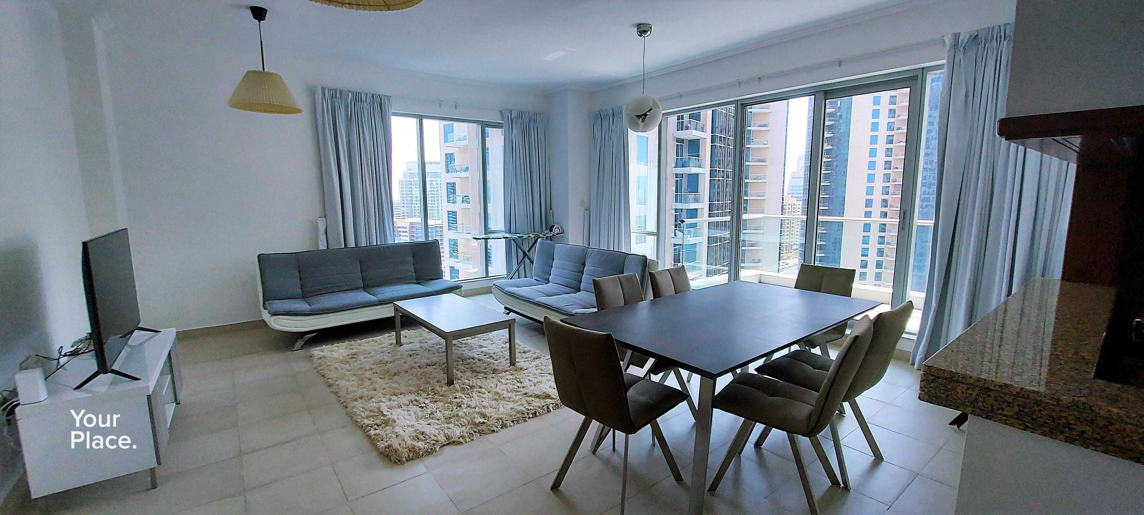 Fully Furnished | High Floor | Sea and Marina Views