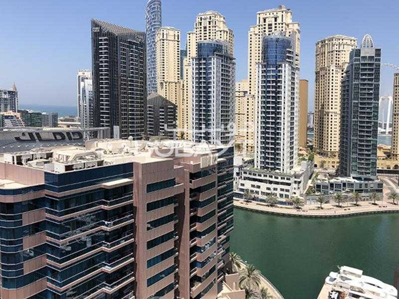 1 Month Free, Pay 4 Cheqs 2 BR+Balcony, Unfurnished, Marina View