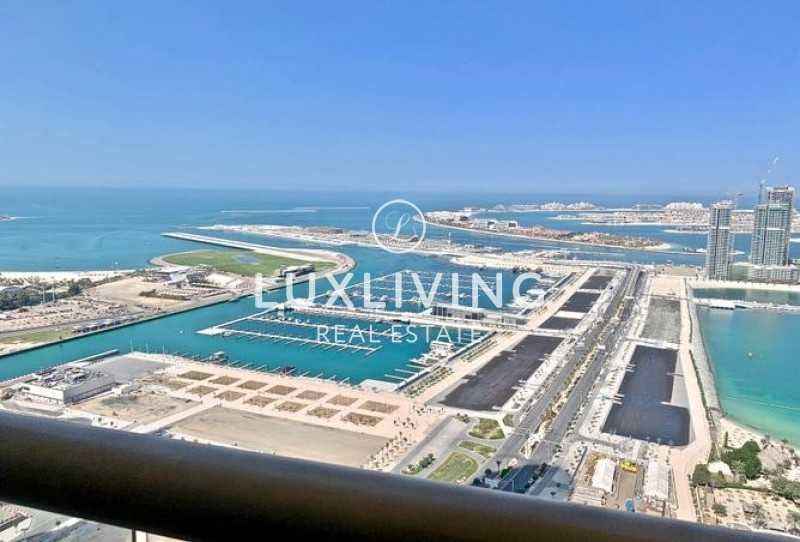 Gulf and Sea View   Partially Furnished High Floor