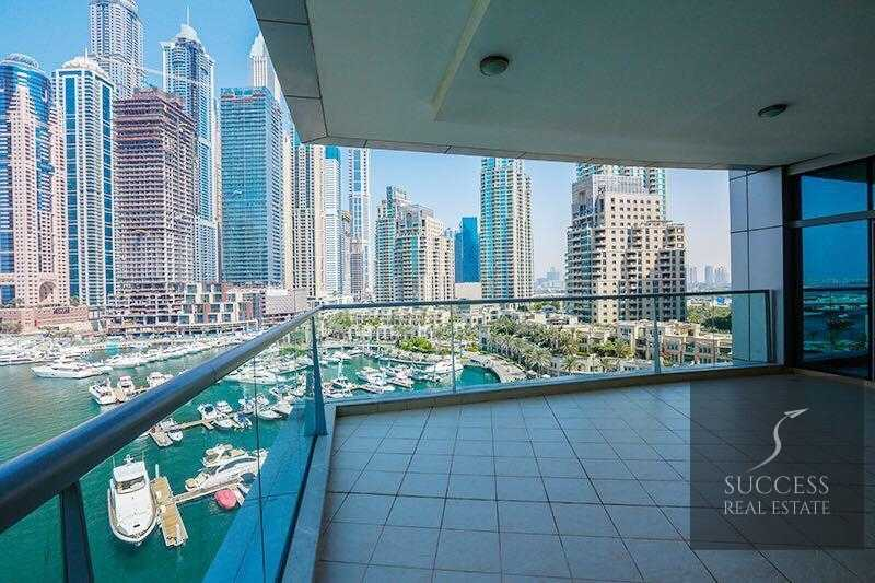 Fully Furnished 3 BR+M+S   Full Marina View