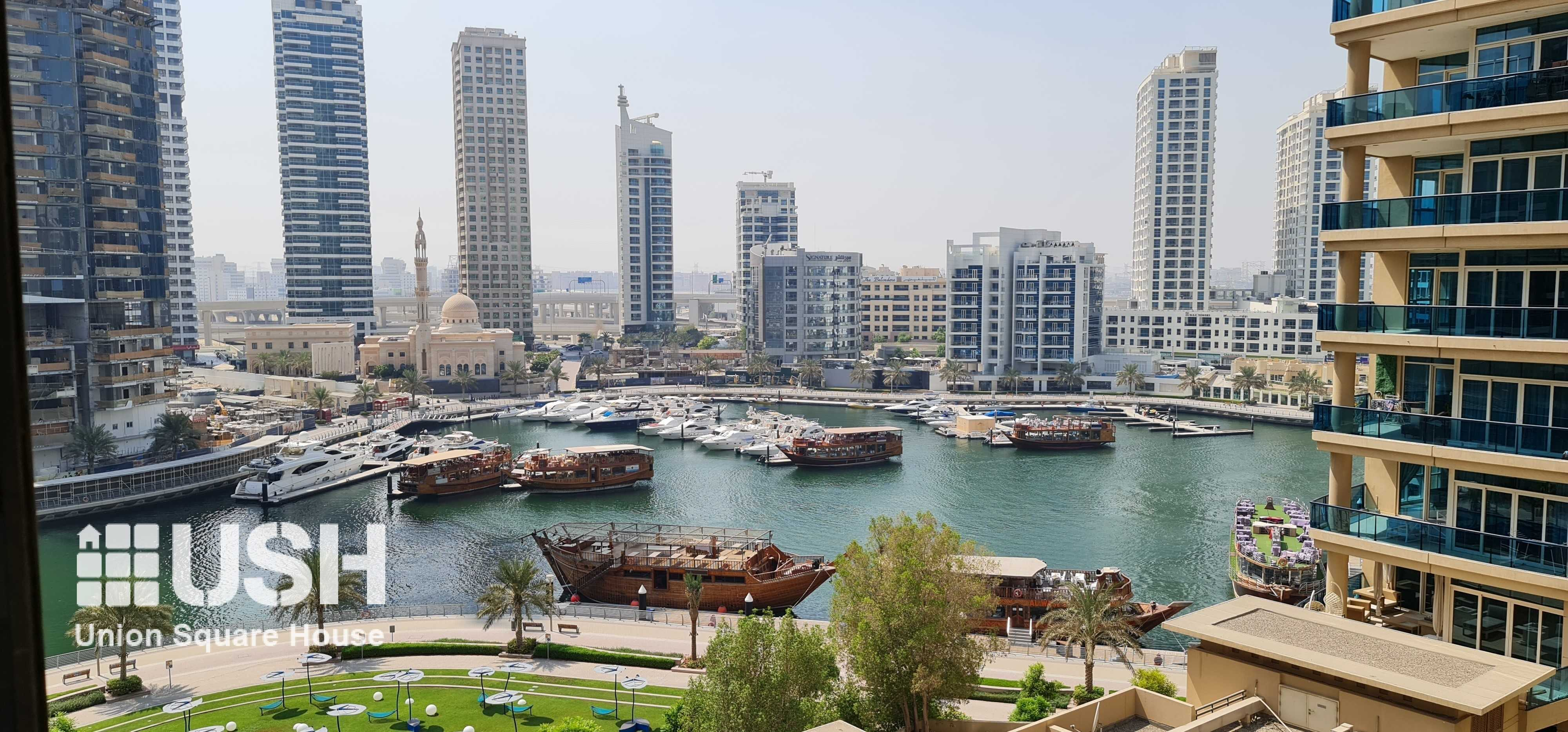 DEWA & CHILLER included Furnished 2BR Marina View