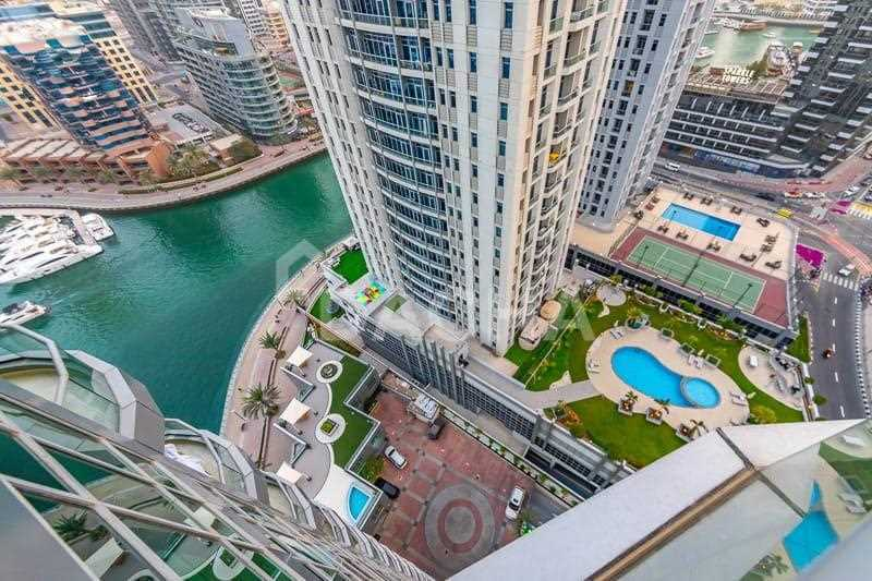 Vacant + Nicely Furnished + Full Marina View
