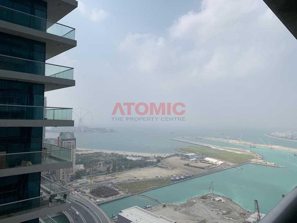 Sea View| Higher Floor|1BR|Princes Tower@ 55K
