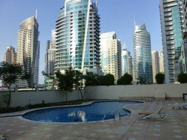 FULLY FURNISHED ONE BEDROOM UNIT WITH PRIVATE COURTYARD/GARDEN IN DUBAI MARINA