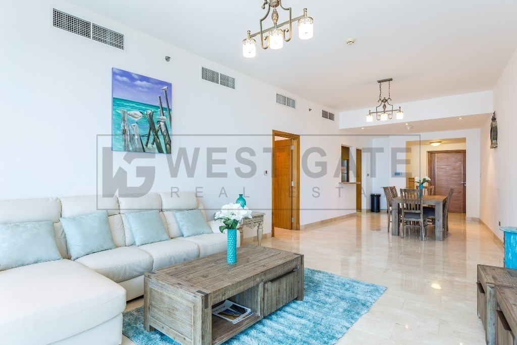 Full Sea & Palm View | 2BR  in  Trident  Grand