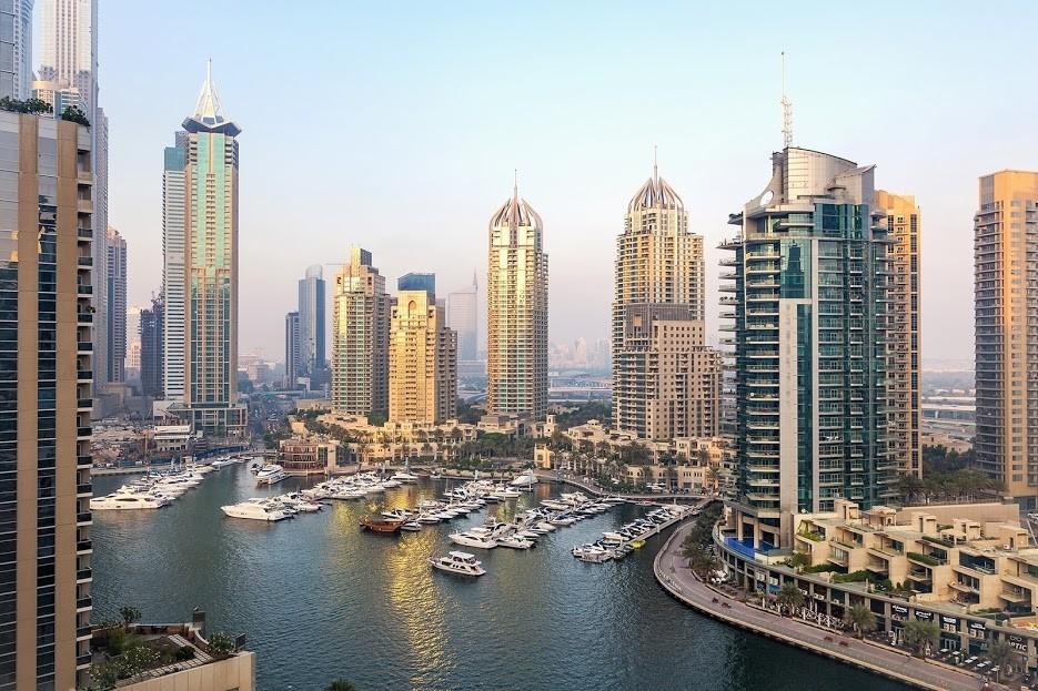 Stunning view to Dubai Marina