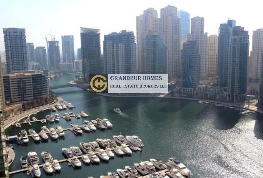 Exclusive 3br Study High Floor 100% Marina View in al majara 1