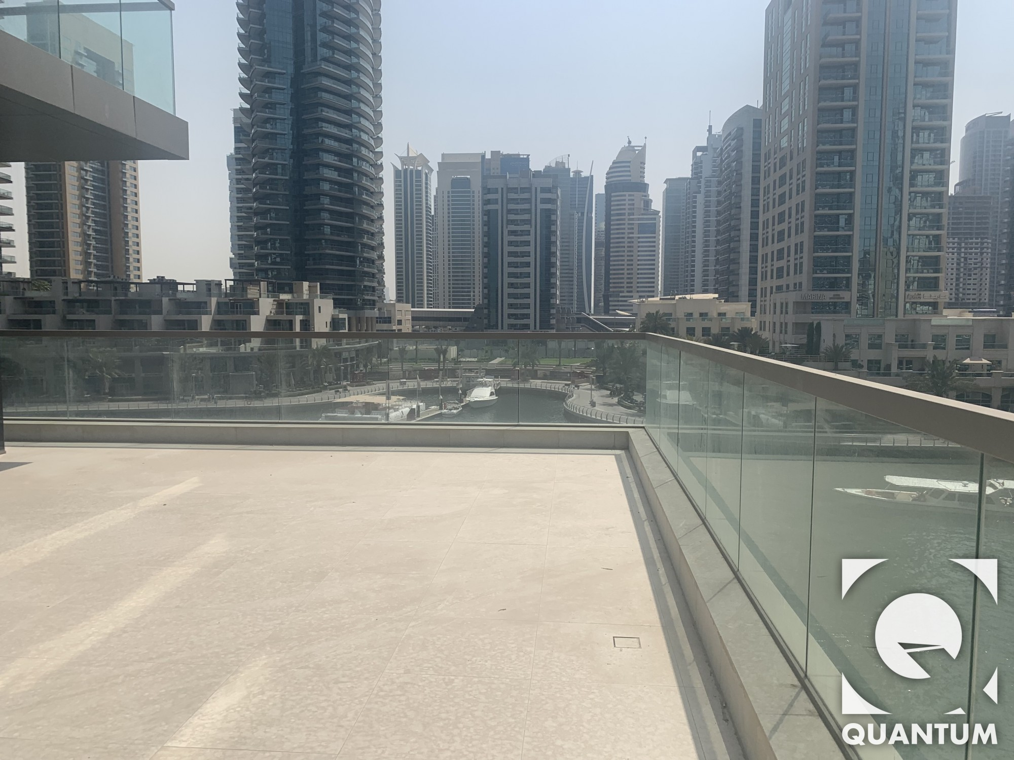 Large Private Terrace on the Marina | Brand New