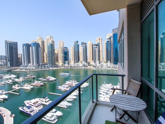 Bright Well-Maintained Fully Furnished Marina View