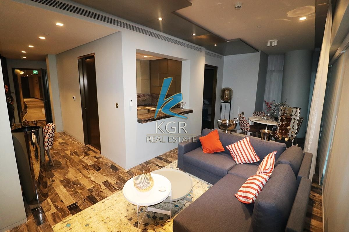 Luxury Unit 2 Beds Furnished Fendi in Damac Heights.