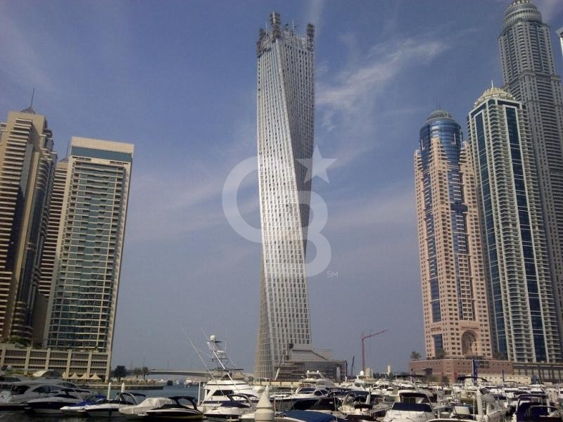 Unique 3 bedroom in Cayan Tower, Full Marina view!