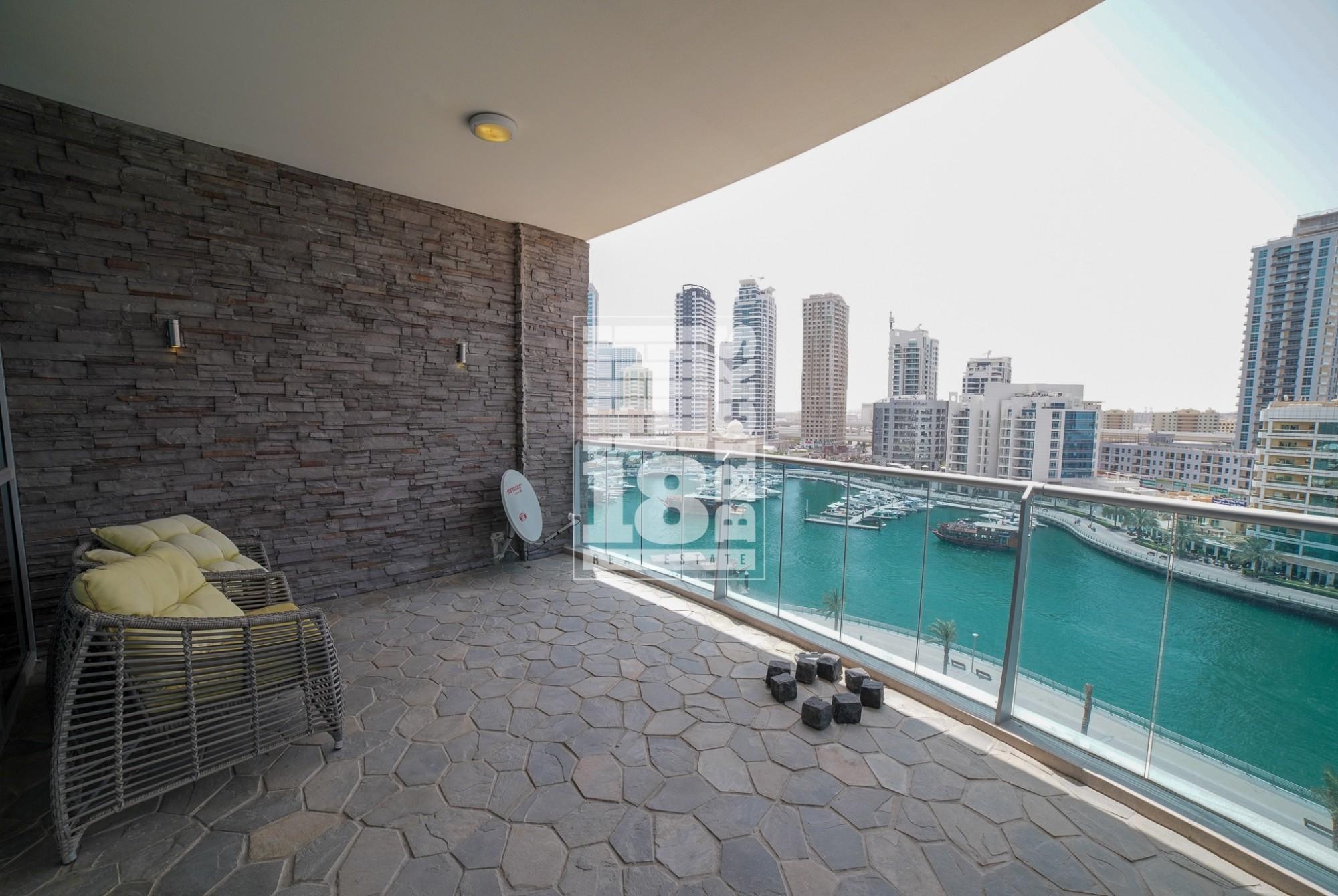 Furnished | Full Marina & Dubai Eye View