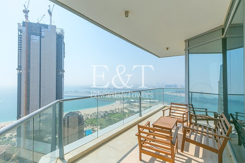 High Floor with Full Sea View | Two Beds + Maids