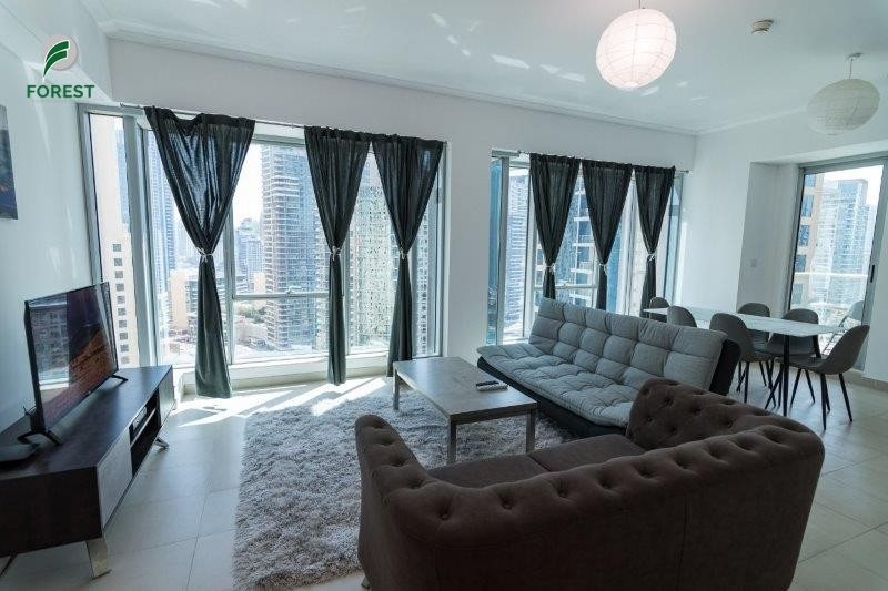 Fully Furnished 1BR Marina And Sea view High Floor